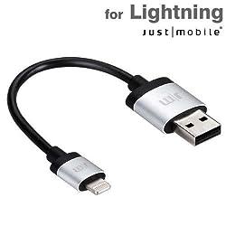 【日本正規代理店品】Just Mobile AluCable Mini Lightningケーブル (0.1m) JTM-OT-000004