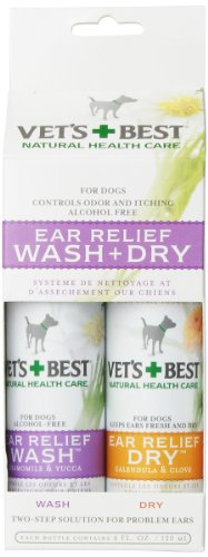 Vet'S Best Ear Relief Wash And Dry, 4-Ounce, 2-Pack - Not Sold In California