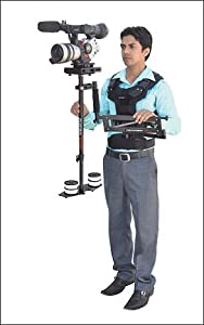 Comfort arm and Vest flycam 5000 kit with quick release base plate and carry case