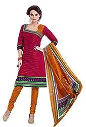 HIFI Ethnicwear Women's Dress Material(HIFI 3213_Red_Free_Size)