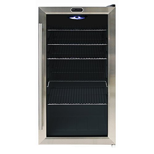 Whynter BR-130SB Beverage Refrigerator with Internal Fan, Stainless Steel (Stainless Steel Bar Fridge compare prices)