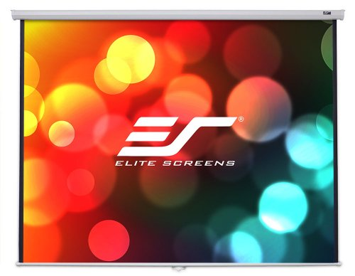 For Sale! Elite Screens 100 Inch 16:9 Manual B Pull Down Projector Screen (49Hx87W)