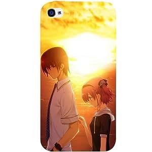 Casotec Girl Boy Sunset Sea Design Hard Back Case Cover for Apple iPhone 4 / 4S