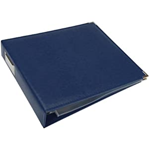 We R Memory Keepers Classic Leather 3-Ring Album - 12x12 inch, Cobalt
