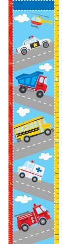 Wall Pops  WPG0622 Transportation Growth Chart Wall Decals, 9.75-inch by 48-inch