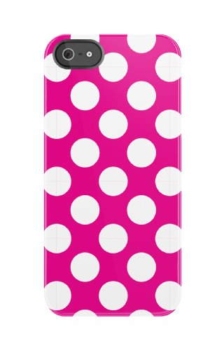 Uncommon Llc Bright Pink Polka Dots Deflector Hard Case For Iphone 5/5S - Carrying Case - Retail Packaging - Pink/White