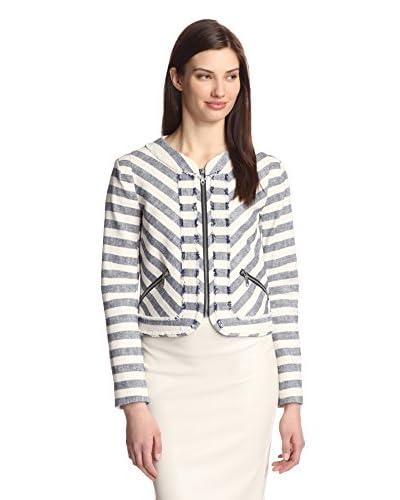 Rebecca Minkoff Women's Salinas Ocean Stripe Jacket