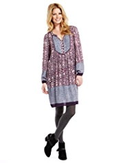 Indigo Collection Floral Border Tunic Dress