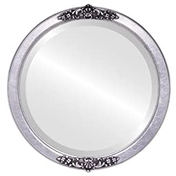 Athena Circle in Silver Leaf with Black Antique