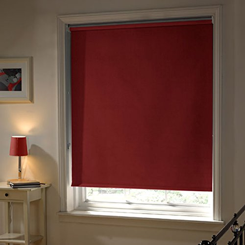 Emma Barclay Thermal Blackout Roller Blind, Red, W210cm