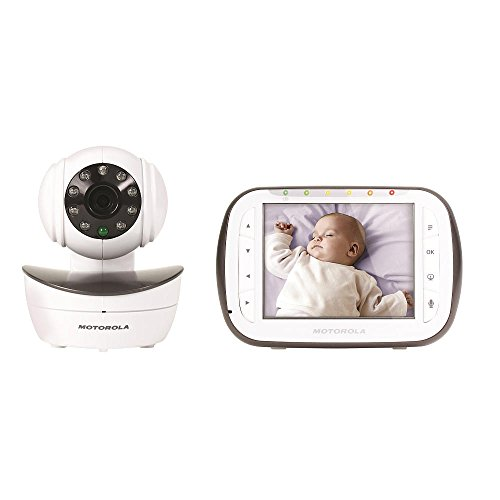 Motorola Digital Video Baby Monitor with 1 Camera, 3.5 Inch Color Video Screen, Infrared Night Vision, with Camera Pan, Tilt, and Zoom - 1