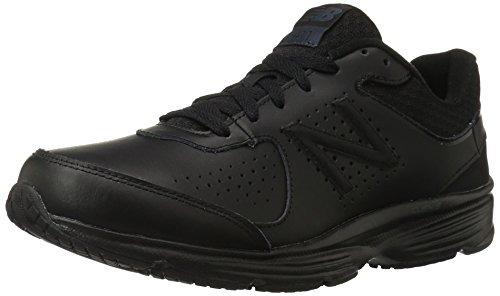 New Balance Men's MW411BK2 Walking Shoe, Black, 10.5 D US