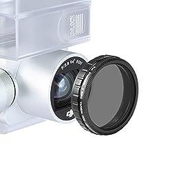 Neewer® for DJI Phantom 4, DJI Phantom 3 Advanced and Professional, ND2-ND400 Neutral Density Adjustable Variable Filter Made of High Definition Optical Glass (Not for DJI Phantom 3 Standard)