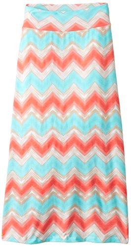 Amy Byer Big Girls' Chevron Stripe Maxi Skirt, Pat G, Medium