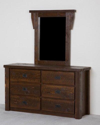 Viking Log Furniture Bardwood 6 Drawer Dresser