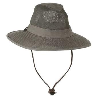 Dorfman Pacific Big Brim Safari Hat, Olive, X-Large