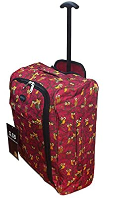 Lightweight Trolley Hand Luggage Bag - Approved Ryanair & Easyjet 2 Wheel Cabin Carry On Board Baggage. 42L Travel Suitcase Bag
