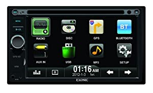 Exonic 6.2-Inch Double Din WVGA Digital TFT LCD Multimedia Disc Player with GPS Navigation (Black)