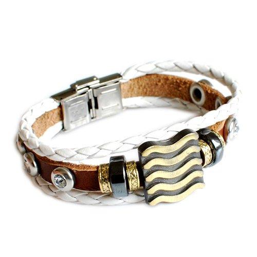 Couple Bracelet ,Unisex Leather Bracelet, Jewelry Bangle bracelet women Leather Bracelet SL2359