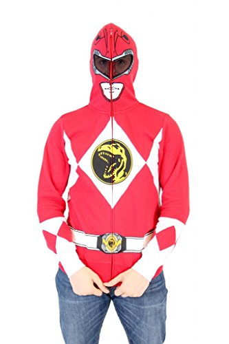 Power Rangers I Am Red Ranger Adult Full Zip Costume Hoodie