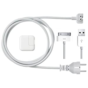 IPad original de Apple iPhone 4S 10W 1/2/3 / 4GS / 4 / 4G / 3G / 3G, iPod / Touch /adaptador de corriente del cargador blanco, incluye cable de datos original