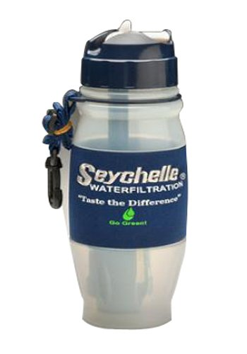 Seychelle 28 Ounce Flip Top Water Bottle with Advanced Filter, BPA Free (Filter Bacteria Water Bottles compare prices)