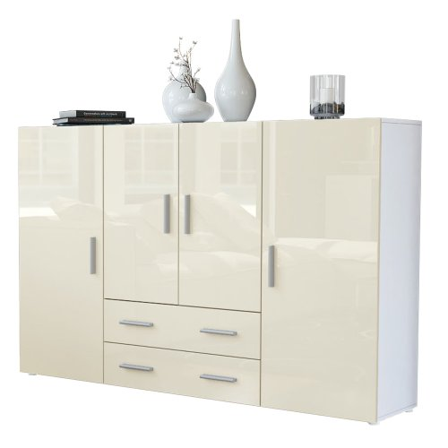 Highboard-Sideboard-Nora-Korpus-in-Wei-matt-Front-in-Creme-Hochglanz