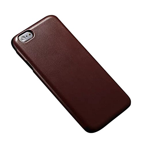 """Bessky(Tm) Cool Iphone 6 Plus 5.5""""Back Skin Luxury Shockproof Tpu Leather Case (Brown)"""