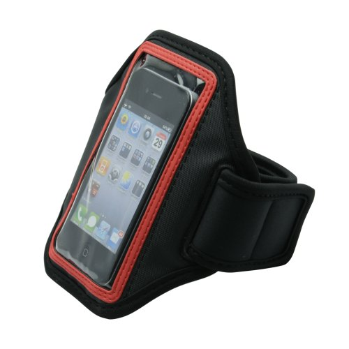 オウルテック iPhone/各種スマートフォンをジョギングやウォーキングで楽しむアームバンドホルダー レッド OWL-MAAB(RD)