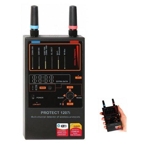 Multi-Channel Rf Bug Detector For Wireless Protocols, Multi-Purpose Detection, Professional Grade
