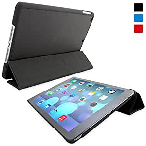 iPad Air Case, Snugg™ - Ultra Thin Smart Case with Flip Stand and Lifetime Guarantee - Black Folio Cover for Apple iPad Air (iPad 5)