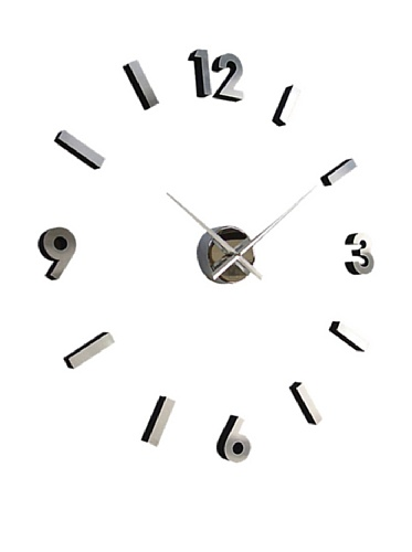 Self Design Modern Contemporary Abstract Wall Clock - Numbers