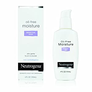 Neutrogena Oil-Free Moisture, Sensitive Skin, 4 Ounce