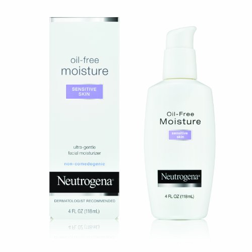 Neutrogena Oil-Free Moisture, Sensitive Skin, 4 Ounce (Pack of 2)