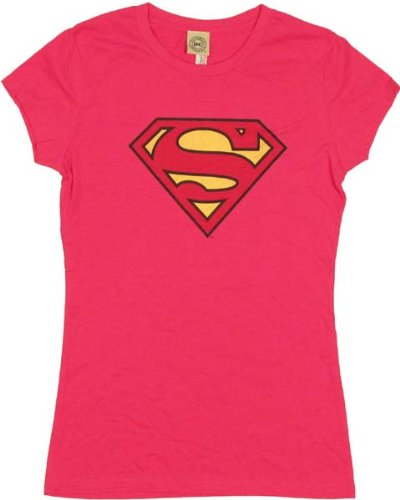 41g4NEpVRFL Superman Supergirl Shield Logo Baby Doll Juniors T shirt