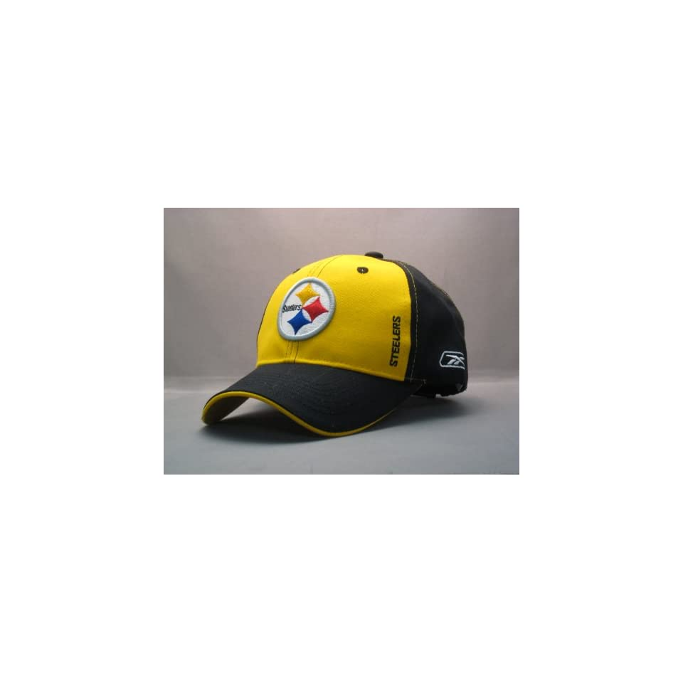 NFL Pittsburgh Steelers Black Rim Gold Front Center Logo New