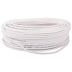 Sharp Plus 3+1 CCTV Wire (White, 100 Yards)