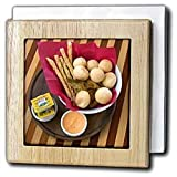 Cuisines, Bread at restaurant, Sao Paulo, Brazil - SA04 DFR0110 - David R. Frazier - 6 Inch Tile Napkin Holder