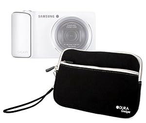 DURAGADGET Housse étui luxe en néoprène noir résistant à l'eau + poignée bonus pour appareil photo numérique compact Samsung Galaxy Camera 3G et Wi-Fi, Samsung Smart Camera WB150F, NX1000, NX210 et NX20 - Garantie 2 ans