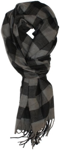 Ted and Jack - Jack's Classic Cashmere Feel Buffalo Check Scarf (Grey and Black)
