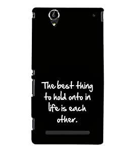 Fuson Premium Printed Hard Plastic Back Case Cover for Sony Xperia T2 Ultra Dual