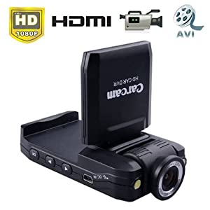 1080P HD 140 Degrees View Angle Car DVR with 270 Degree Rolling Display Panel from ePathDirect