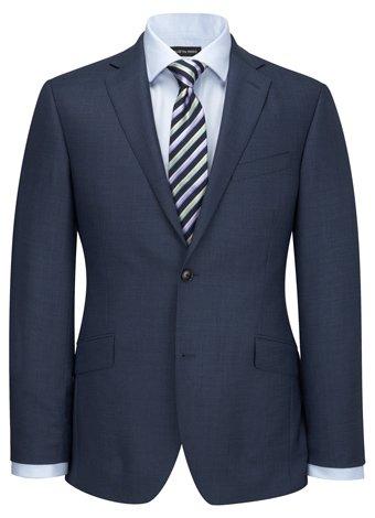 Austin Reed Contemporary Fit Blue Pick & Pick Jacket REGULAR MENS 44