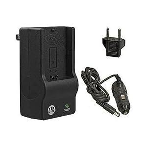 Pansonic Lumix DMC-FS3, DMC-FS5, DMC-FS20, DMC-FX35 - Replacement Battery Charger (Including Car and European Plug Adapters)