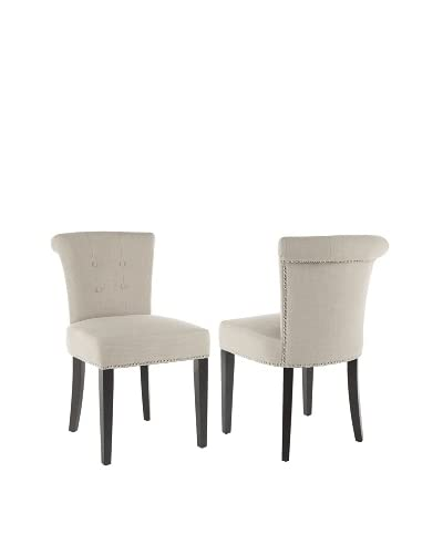 Safavieh Set of 2 Sinclaire Side Chairs, True Taupe