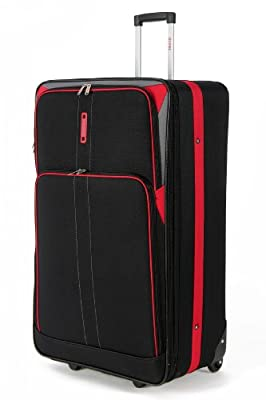 """5 Cities Large 26"""" Inch Lightweight Expandable Suitcase, Check-in Luggage Wheeled Rolling Bag with 3 Years Warranty!"""