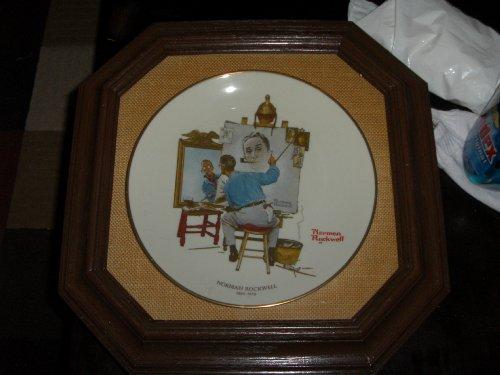 """Norman Rockwell """"Triple Self Portrait"""" Plate"""