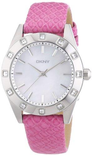 DKNY Damen-Armbanduhr Analog Quarz Leder NY8787