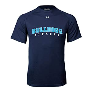 Citadel Under Armour Navy Tech Tee 'Arched Citadel Bulldogs' - XX-Large