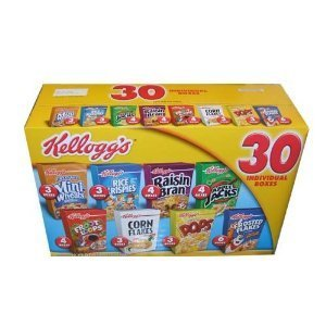 Kellogg's Cereal 30 Individual Box Variety Pack 32.73 Total Ounces - Value Box
